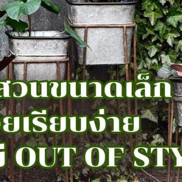 ไอเดียแต่งสวนขนาดเล็ก ให้สวยเรียบง่ายแต่ไม่ Out of Style